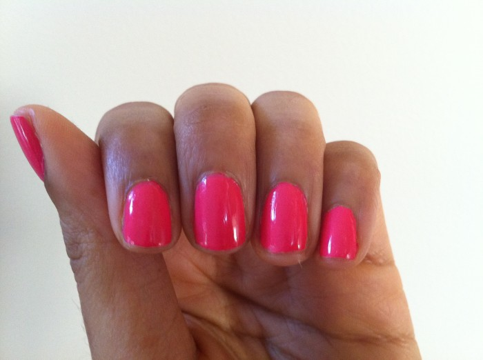 Swatch Nail Tek Hydration Therapy Color In What A Melon