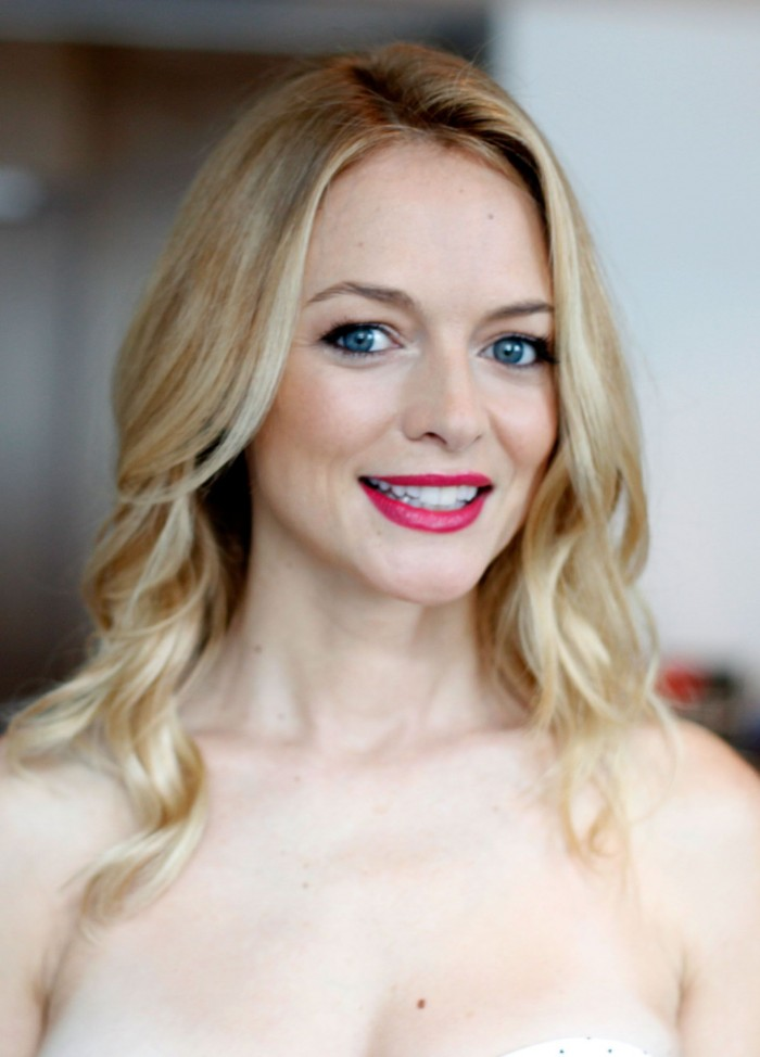 Canadian Beauty Magazines: Heather Graham – A Study In Red