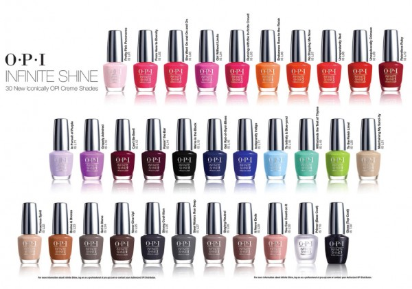OPI Infinite Shine Colours