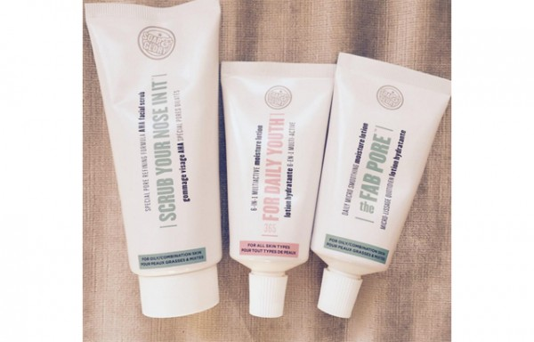 Soap and Glory scrub and moisturizer